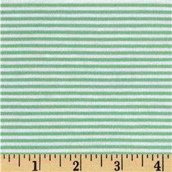 Modal Rayon Jersey Knit Stripe Green/White