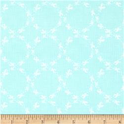 Riley Blake Butterfly Dance Circles Blue Fabric