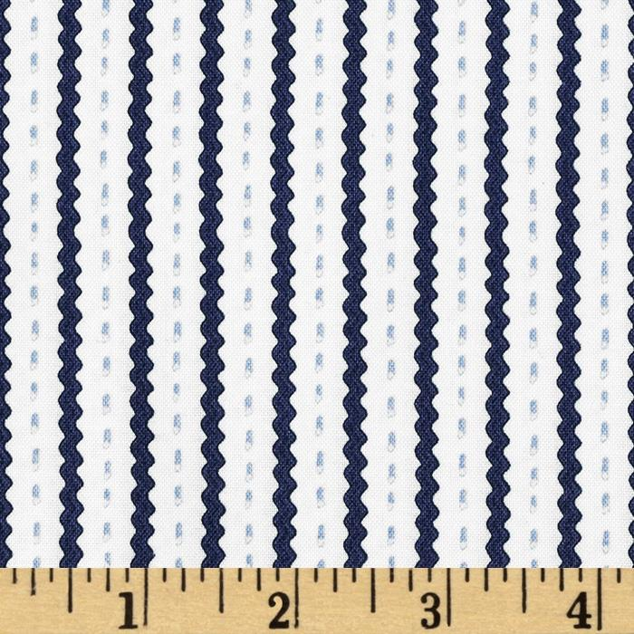 Snow Daze Ric Rac Stripe Blue