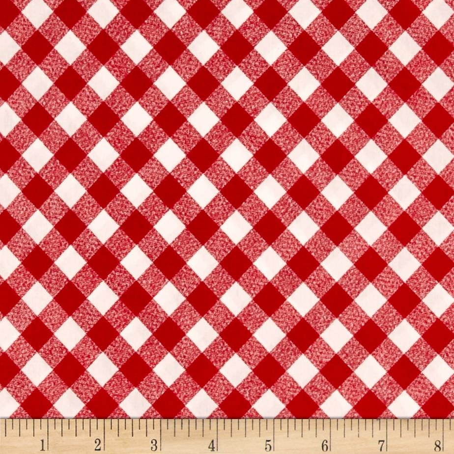 "Moda 108"" Wide Quilt Backing Check Red"