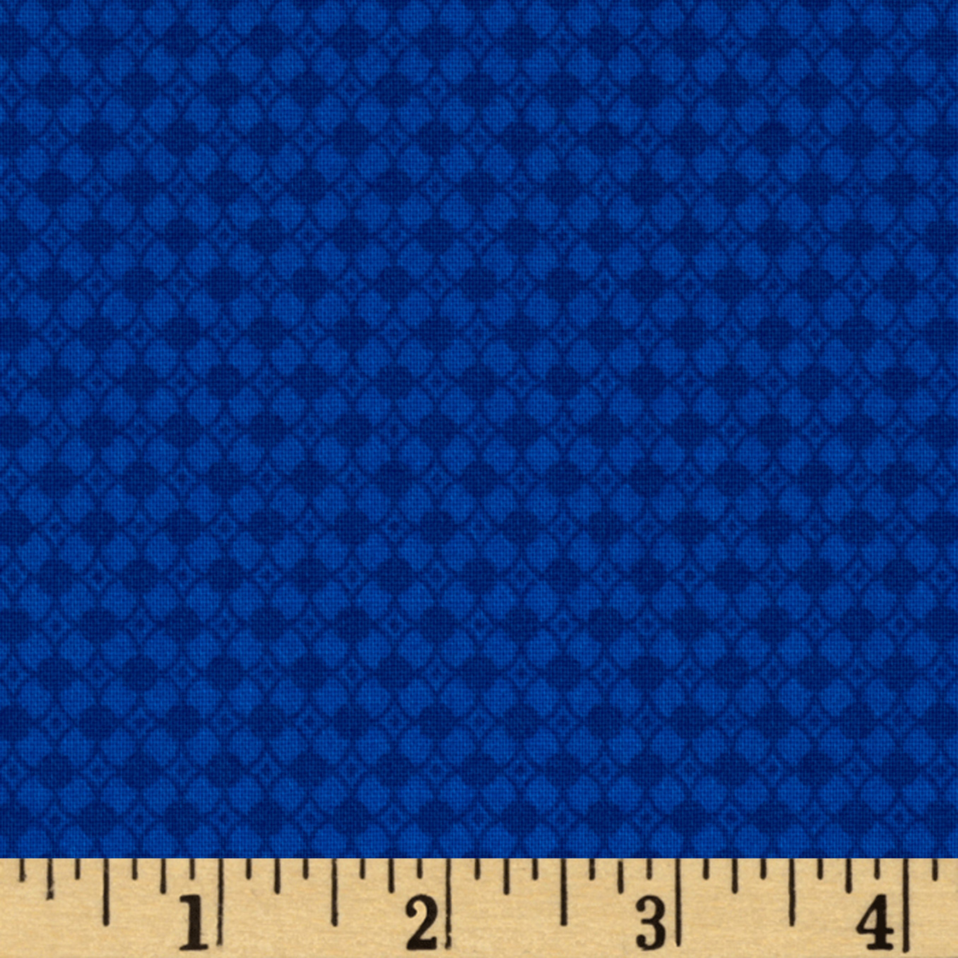 Winter Olympics Diamond Geometric Blue Fabric