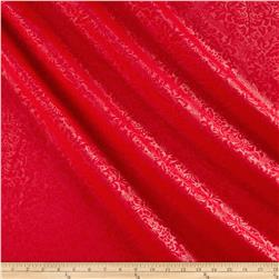 Techno Embossed Double Knit Damask Red