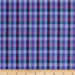 Peppered Cotton Small Check Purple Haze