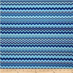 A.E. Nathan Chevron Aqua/Royal/White Fabric