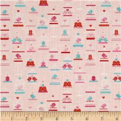 Riley Blake Lovey Dovey Birdcages Pink Fabric
