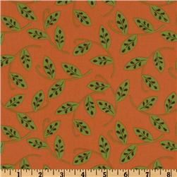 Whimsy Leaf Vines Orange/Green