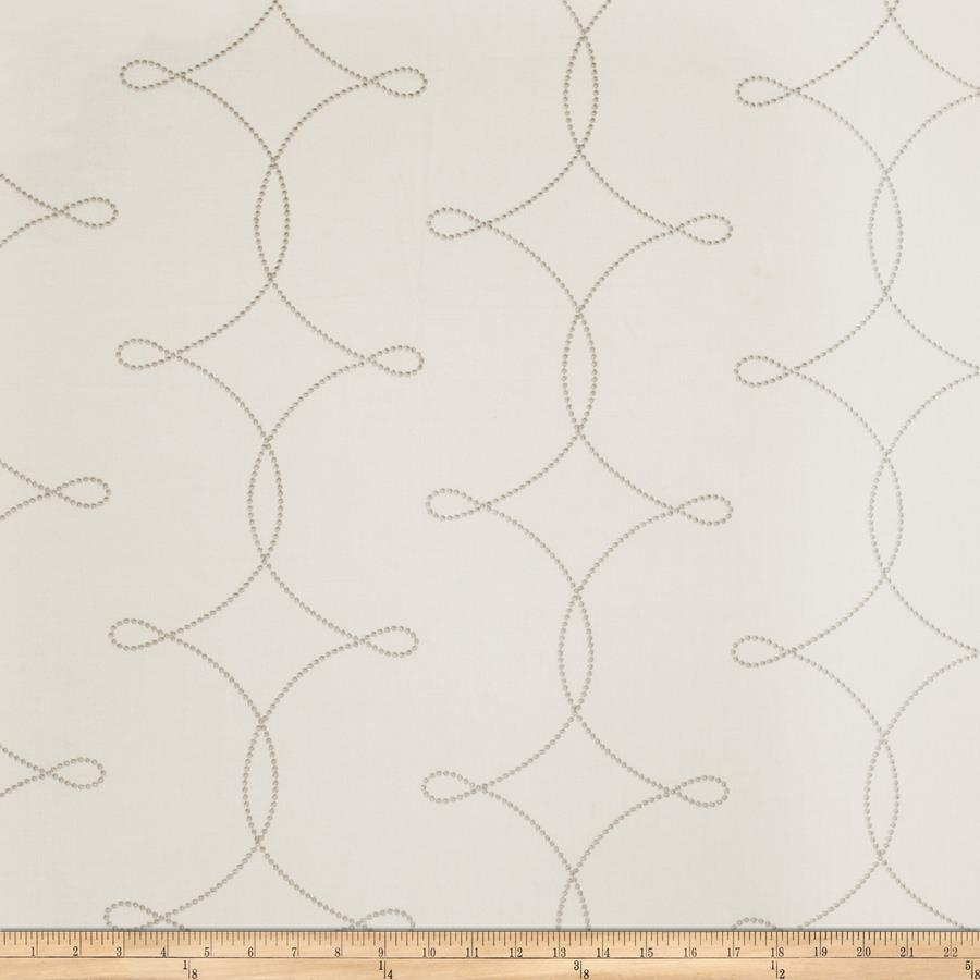 Fabricut  Embroidered Sheryl Interloc Grey