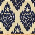 Duralee Home Kalah Ikat Sateen Blue