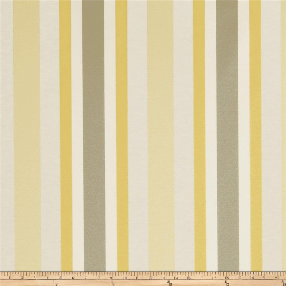 Jaclyn Smith Bank Stripe Blend Lemon Zest