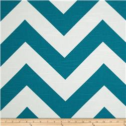 Premier Prints Zippy Chevron Slub Aquarius