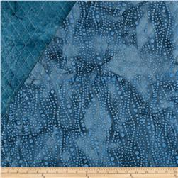Indian Batik Double Sided Quilted Small Vertical Dots Blue