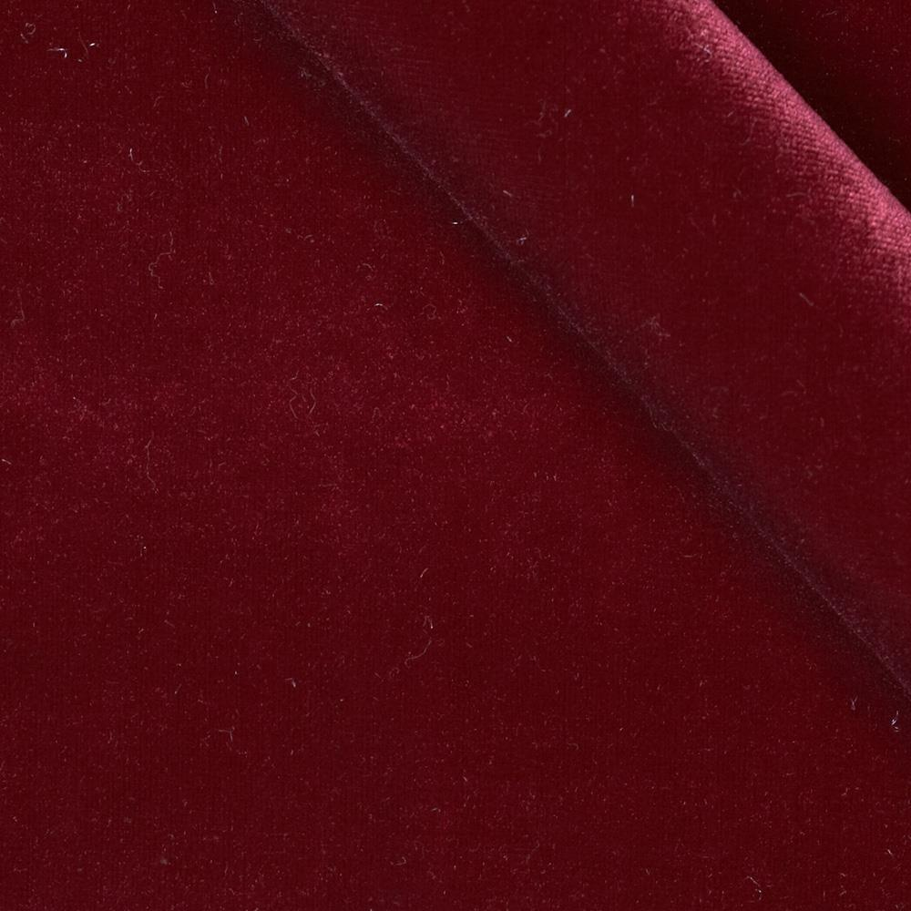 Stretch velvet knit wine discount designer fabric for Velvet fabric