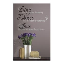 Dance, Sing, Love Wall Decal