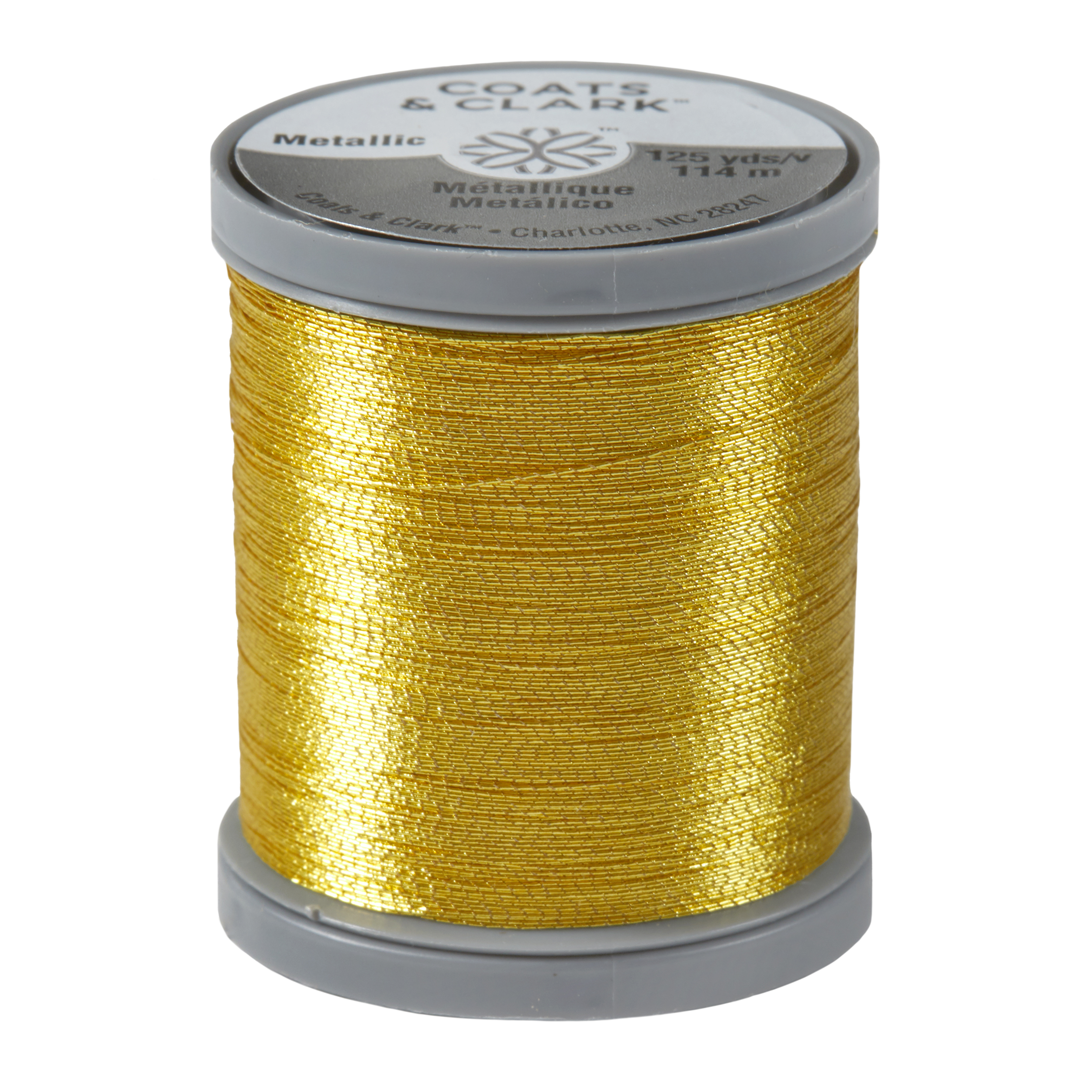 Picture of Coats  Clark Metallic Embroidery Thread 125 Yds Bright Gold