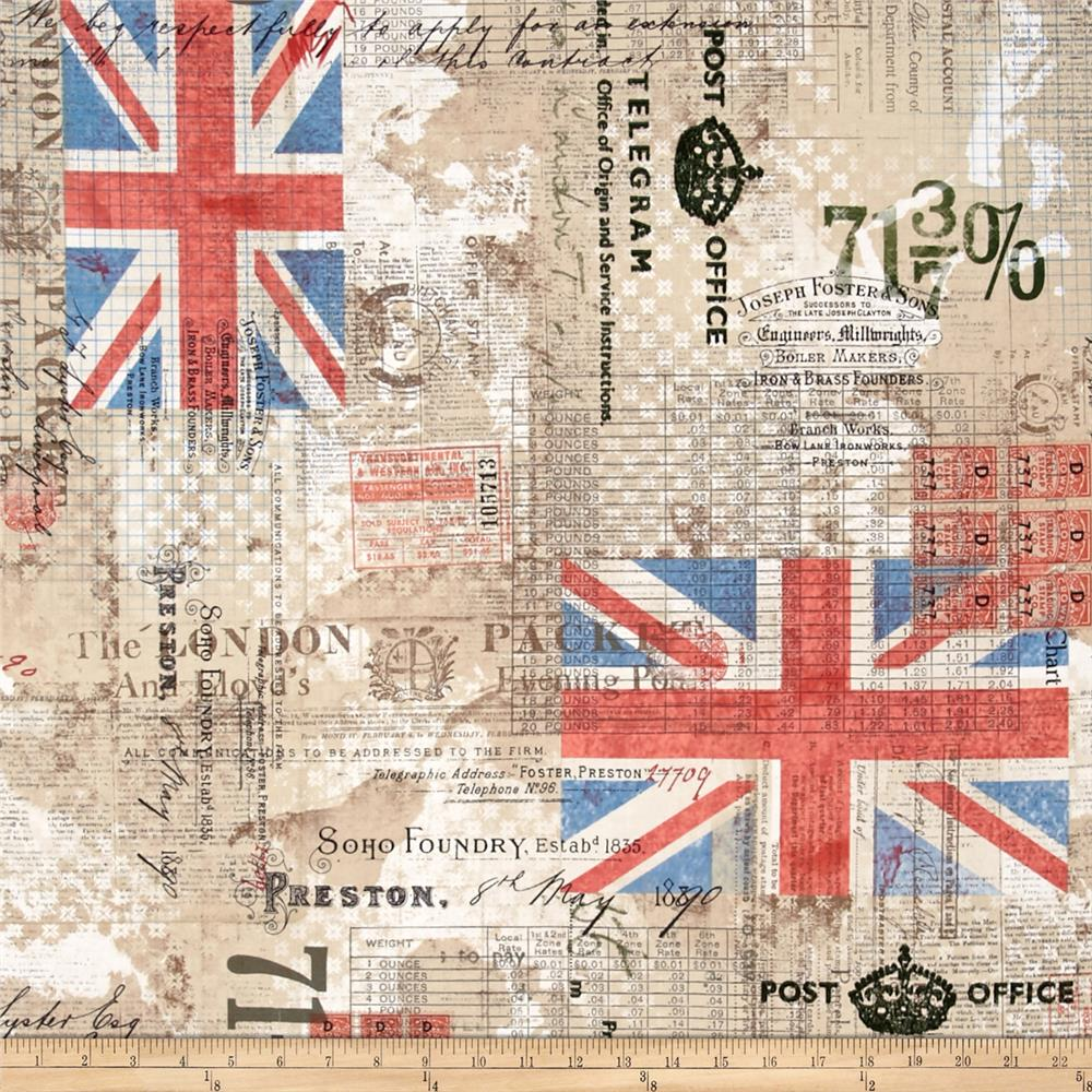Tim Holtz Eclectic Elements Royal Mail Neutral - Discount Designer Fabric -  Fabric.com