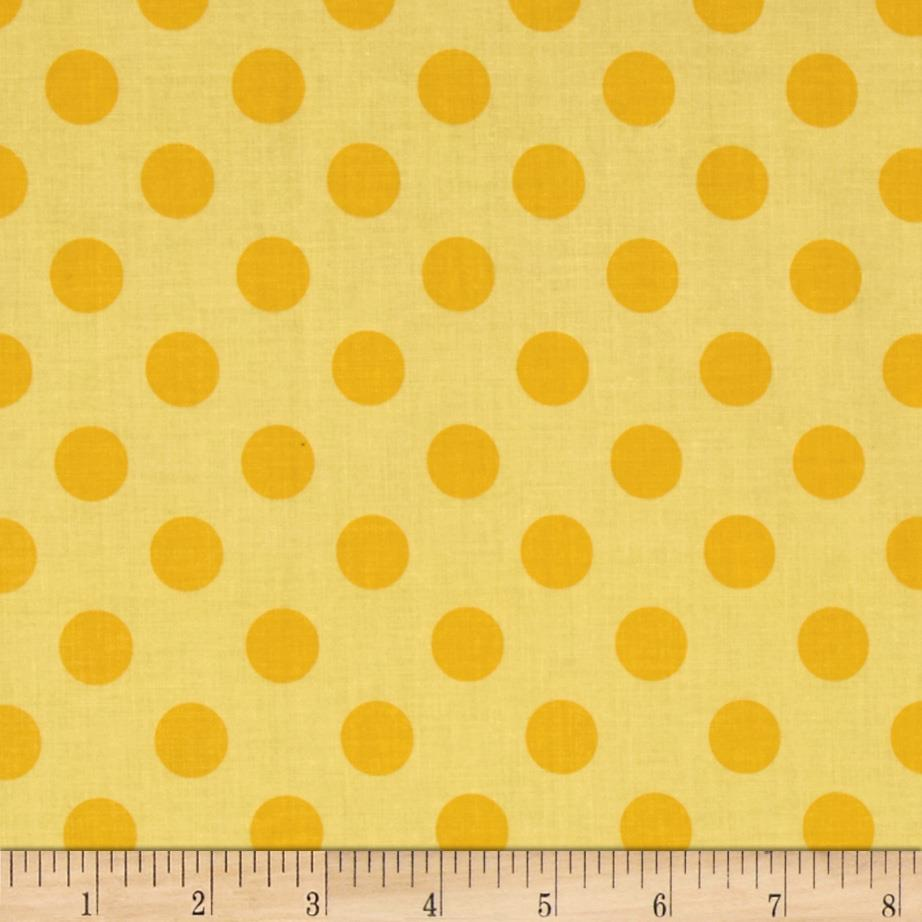Riley Blake Medium Dots Tone on Tone Yellow