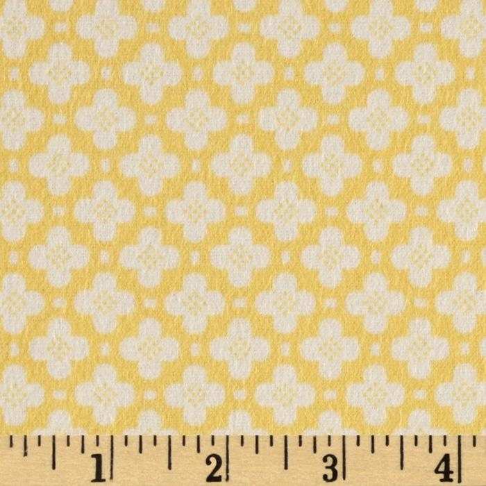 Riley Blake Sidewalks Flannel Hopscotch Yellow