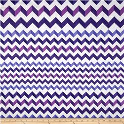 Crinkle Stripe White/Purple