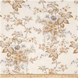 Village Garden Large Floral Cream Grey