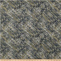 Timeless Treasures Metallic Zephyr Bias Herringbone Chrome