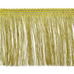 "2 1/4"" Etta Metallic Fringe Gold"