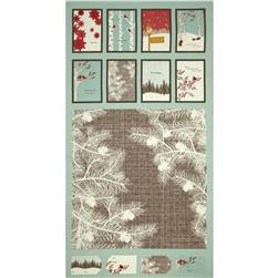 Moda Winter's Lane Holiday Panel Mint