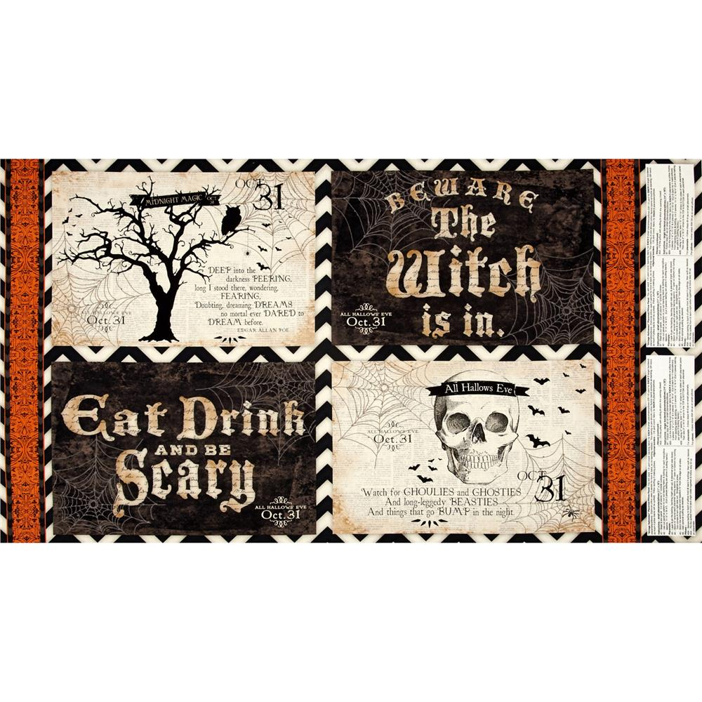 Something Wicked Placement Panel Multi Fabric By The Yard