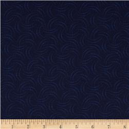 The Jinny Beyer Palette Dotted Crescents Navy
