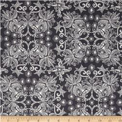 Robert Kaufman In the Bloom Abstract Flowers Charcoal