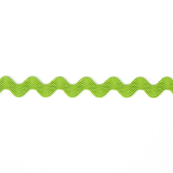 "1/2"" Ric Rac Rayon Medium Trim Lime"