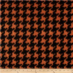 Fleece Houndstooth Orange