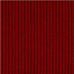 Hatchi Rib Knit Solid Red