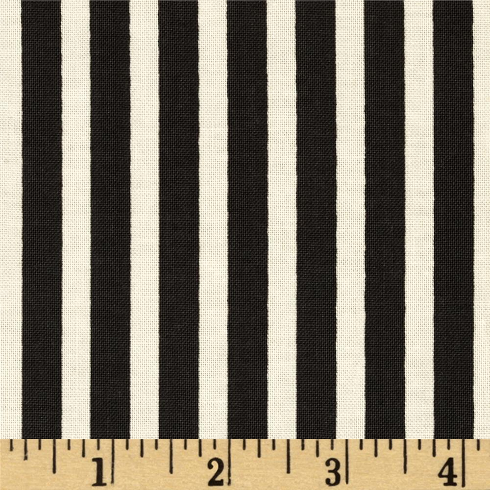 Riley Blake Lost and Found Love Stripes Black