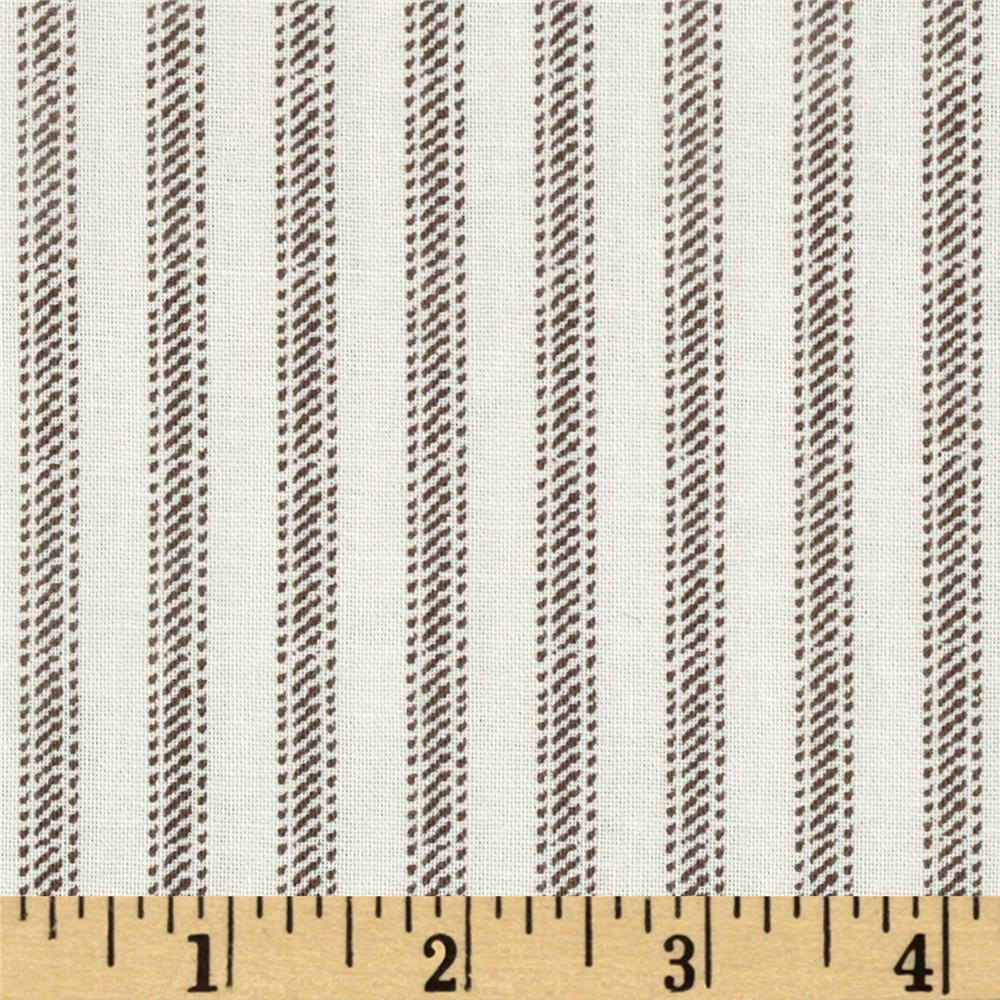 Nursery Rhyme Ticking Stripe Beige