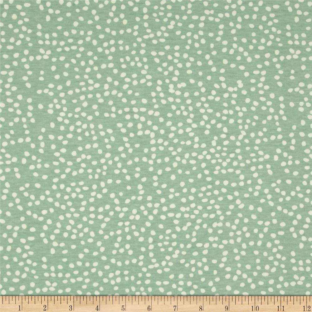 Birch Organic Mod Basics 3 Interlock Knit Firefly Dots Mint