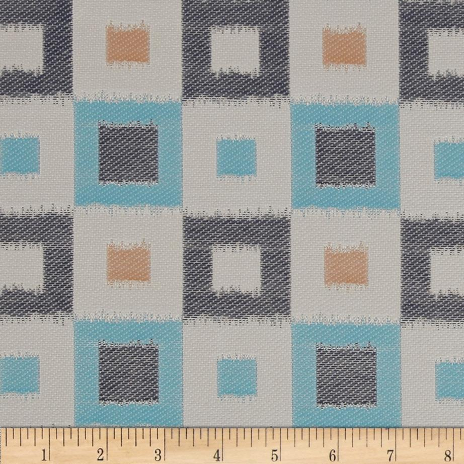Claridge Square Jacquard Monocco Blue