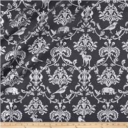Kokka Classic Animals Canvas Metallic Gray/Silver