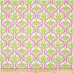Premier Prints Madison Candy Pink/Chartreuse Fabric