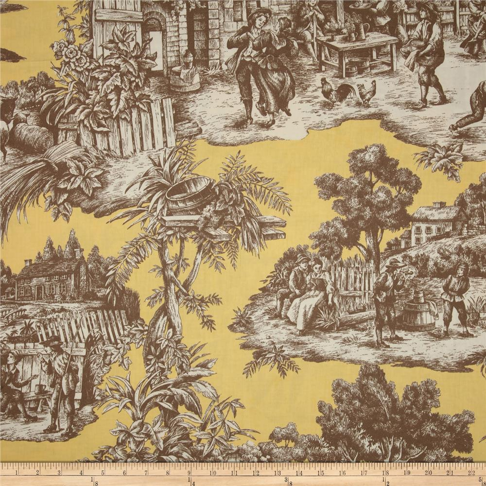 Duralee Home Ernest Toile Yellow