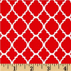 Petit Quatrefoil Red/White