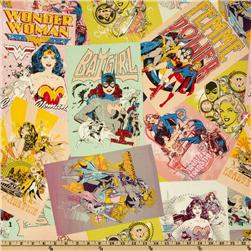 Girl Power Wonder Woman Collage Multi