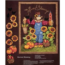 Harvest Blessings Wall Hanging Panel Multi