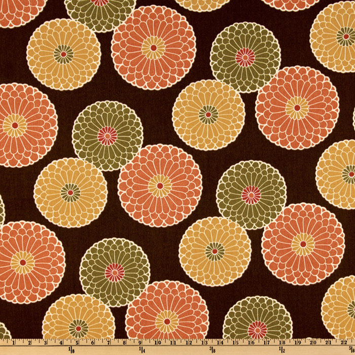 Richloom Indoor/Outdoor Springdale Chocolate Home Decor Fabric