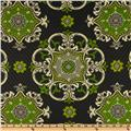Waverly Sun N Shade Quilted Garden Crest Onyx