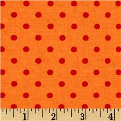 Moda Bloomin' Fresh Dots Poppy Orange