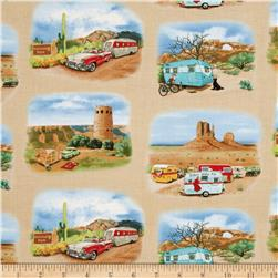 Vintage Trailers Desert Scene Earth