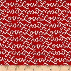 Moda Ever After Love Letters Romantic Red