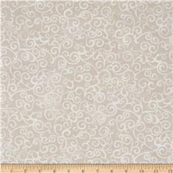 """Quilting Treasures 108"""" Wide Quilt Back Ombre Scroll Crystal"""