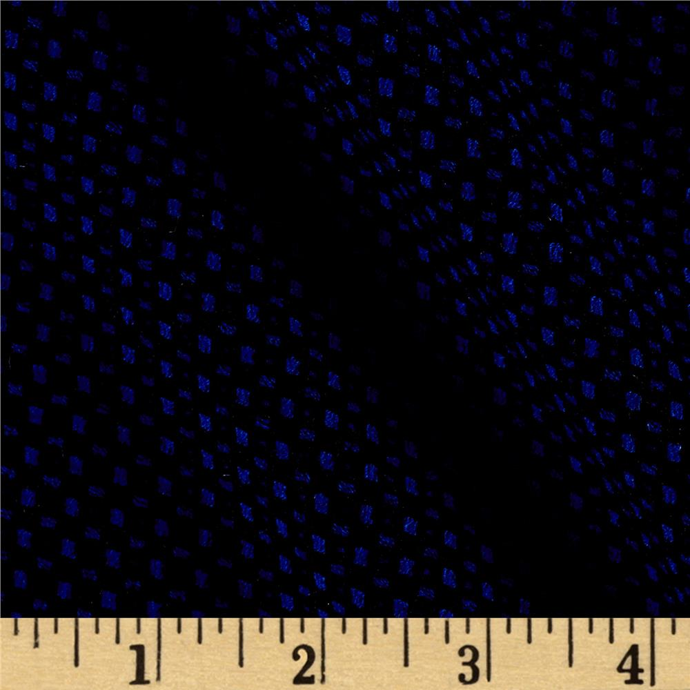 Jacquard Knit Polka Dot Royal/Black