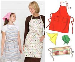 Kwik Sew Adult & Children Aprons & Scarf